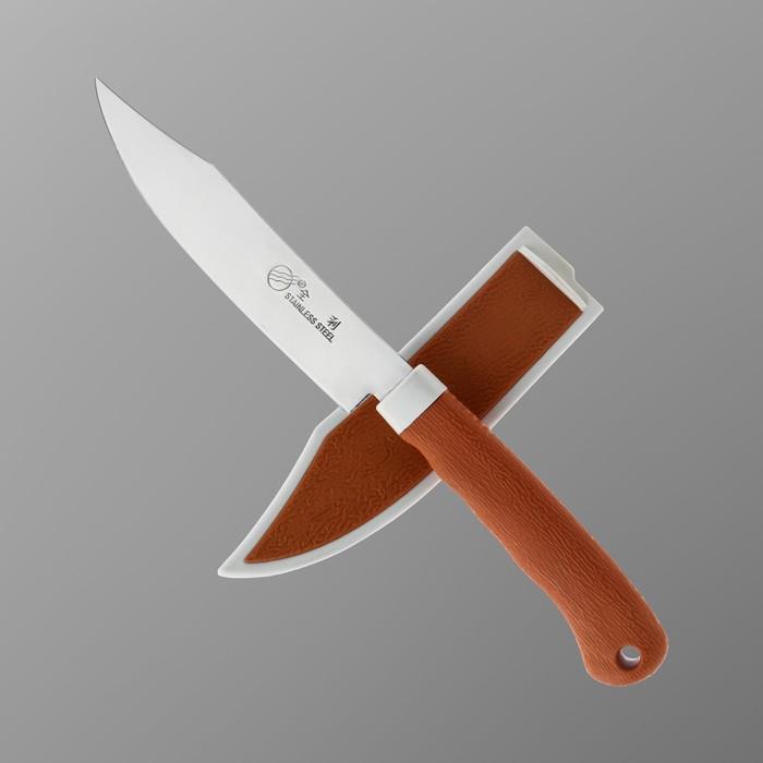 Нож нескладной в ножнах, лезвие 11,5 см, рукоять 10 см, под дерево