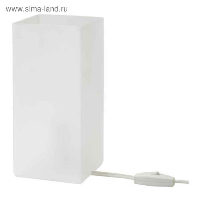 Настольная лампа GRONO 1x20Вт Е14 белый 10x10x22см