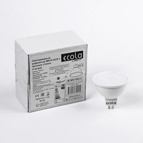 Лампа светодиодная Ecola Light, MR16, GU5.3, 7,0 Вт, 4200K, 220 В, матовое стекло, 48x50