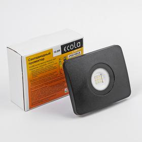 Прожектор светодиодный Ecola Light, 10,0 Вт, 4200K, 220 В, IP65 Ош