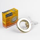 Светильник встраиваемый Ecola Light, DL90, MR16, GU5.3, плоский, Золото, 30x80