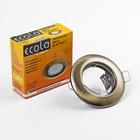 Светильник встраиваемый Ecola Light, DL92, MR16, GU5.3, выпуклый, Черненая Бронза, 30x80