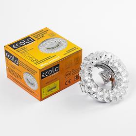 Светильник встраиваемый Ecola Light, CD4141, MR16, GU5.3, круглый, Прозрачный/Хром, 50x90