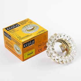 Светильник встраиваемый Ecola Light, CD4141, MR16, GU5.3, круглый, Прозрачный/Золото, 50x90