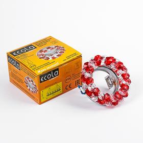 Светильник встраиваемый Ecola Light, CD4141, MR16, GU5.3, круглый, Рубин/Хром 50x90