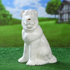 Садовая фигура 'Собака Алабай', белый цвет, 32 см Ош