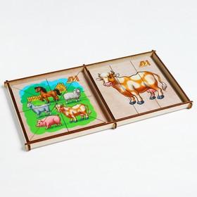 Пазлы «Сложи картинку. Домашние животные» Деревянные Игрушки