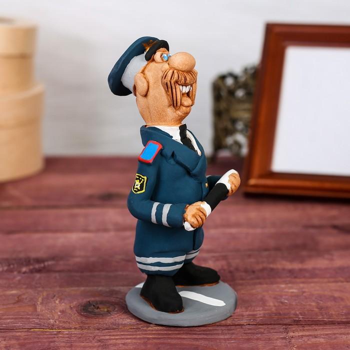 "Статуэтка ""Инспектор ГИБДД"", ручная работа - фото 370256977"