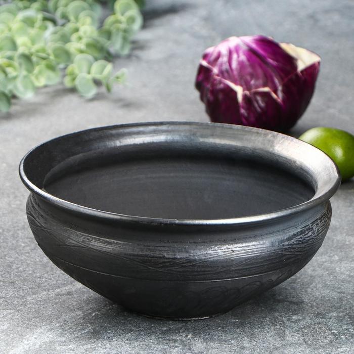 "Салатник глубокий ""Чёрная керамика"", 3 л"