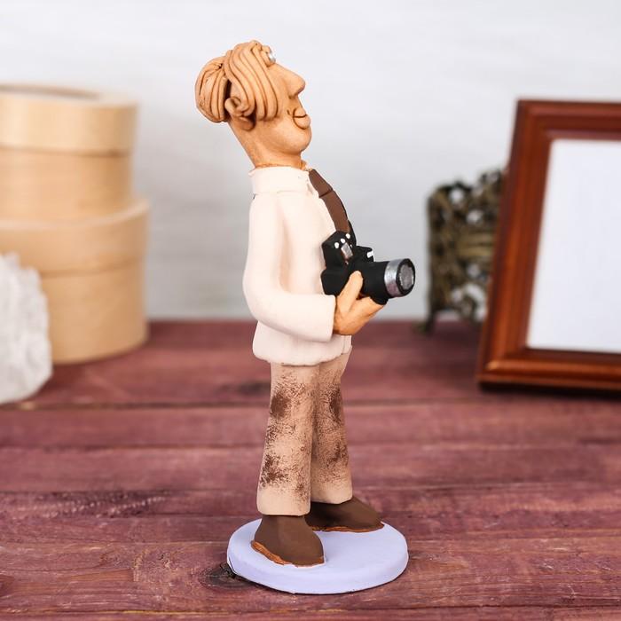 """Статуэтка """"Фотограф мужчина"""", микс, ручная работа - фото 370256835"""