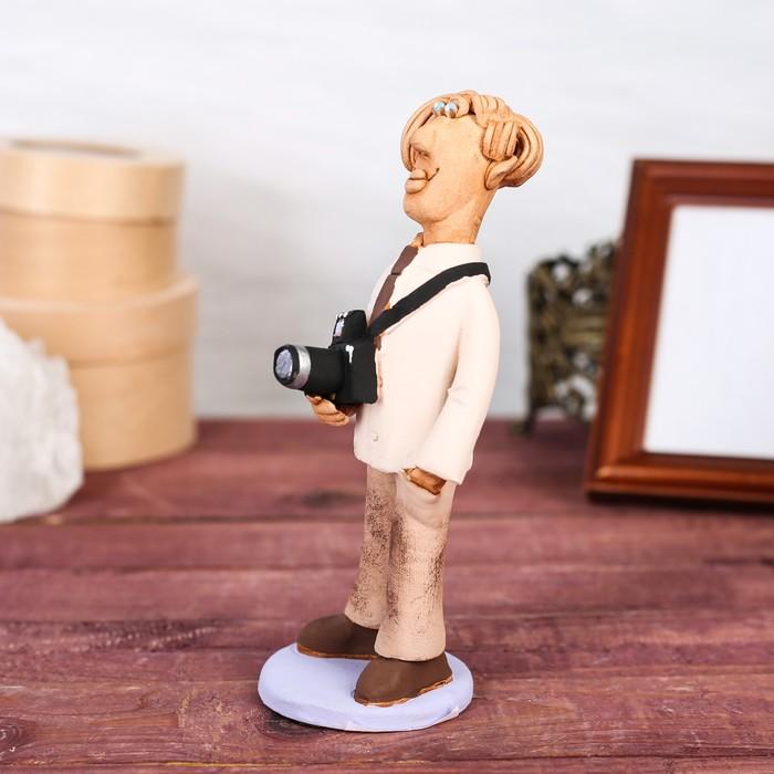 """Статуэтка """"Фотограф мужчина"""", микс, ручная работа - фото 370256836"""