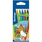Мелки пластиковые 6 цветов Berlingo «Волшебный дворец», шестигранные