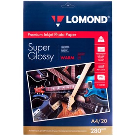 Фотобумага LOMOND 1104101 для струйной печати А4, 280 г/м², 20 листов