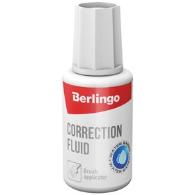 Correction fluid 20 ml, Berlingo, water base, with brush.
