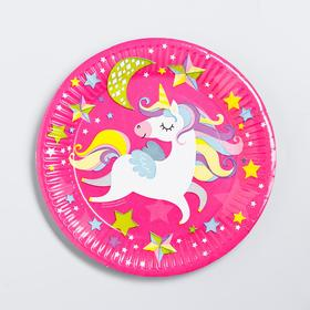 "Paper plate ""Unicorn"", 18 cm"
