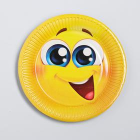 """Plate paper """"Smiley"""", 18 cm"""