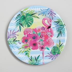 Paper plate Flamingo 18 cm