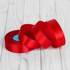 Лента атласная, 25 мм, 33±2 м, №065, цвет красный