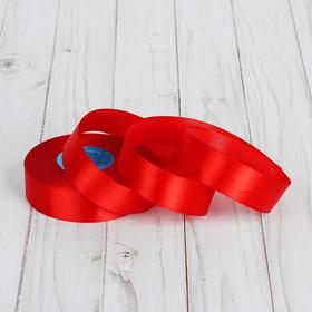 Лента атласная, ширина 25мм, 33±2м, цвет красный Ош
