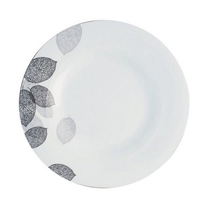 Тарелка обеденная Bosqua Platina, 22,5 см