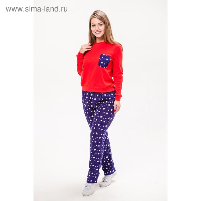 Комплект женский (джемпер, брюки) М-289/1-30 цвет красный/синий, р-р 42