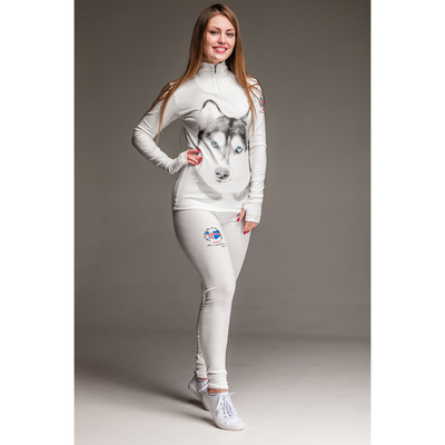 Комплект женский (джемпер, лосины) «Хаски» термо М-290/1-18, цвет белый, р-р 42