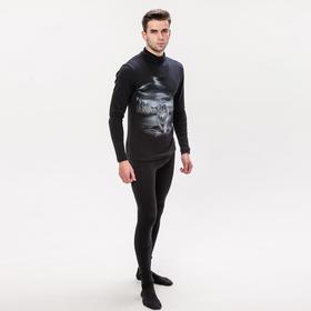 Комплект мужской (джемпер, кальсоны) термо М-288-18, цвет чёрный, р-р 48