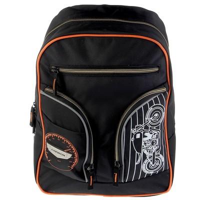 Рюкзак молодежный маленький Proff 39х29х19 Carbon, чёрный, с отделением для ноутбука