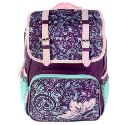 Рюкзак школьный эргономичная спинка для девочки Proff 35*28*14 Wonder Girl, сиреневый VL17-BPA-09