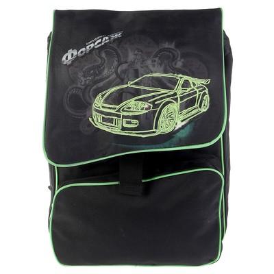 Рюкзак Proff 48*28*12 для мальчика, «Форсаж», чёрный