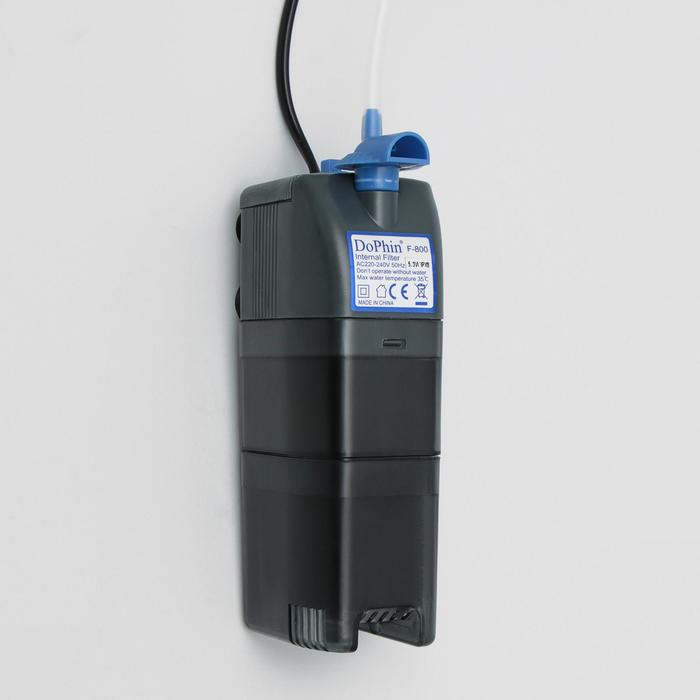 Фильтр внутренний KW Dophin F-800, 5.3 Вт, 360 л/ч с регулятором и углем
