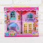 """Dolls at home """"sweet home"""" with accessories, light and sound effects"""