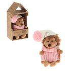 """Мягкая игрушка """"Ежинка Колючка в шапке с розовым помпоном"""" 15 см OS605/15А"""
