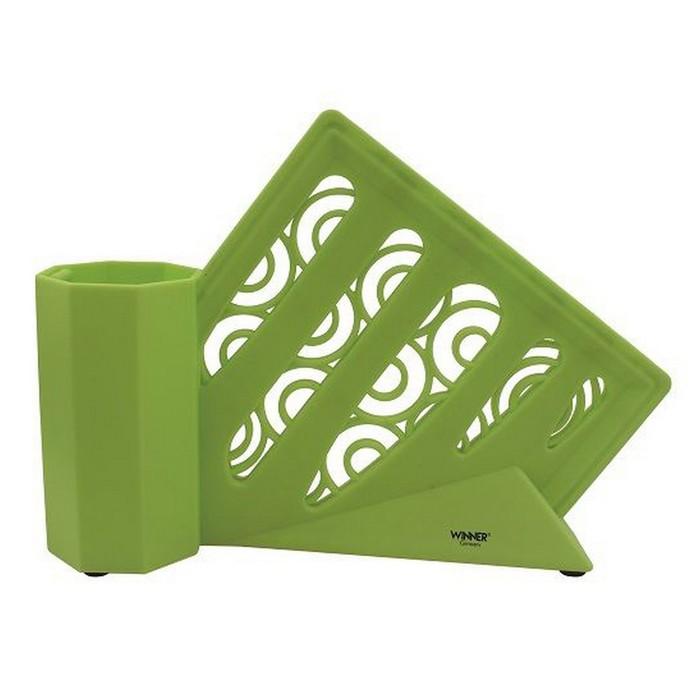 Подставка для ножей, цвет зеленый