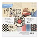 Набор бумаги для скрапбукинга Time to party, 12 листов, 15,5 х 15,5 см