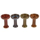 Чаша для кальяна керамическая «Фанел. Гармошка», под калауд, 8,5 × 11.5 см, коричневая