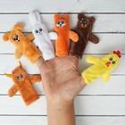 Пальчиковый театр «Заяц и лисичка», набор: 6 персонажей, сценарий - фото 76143270