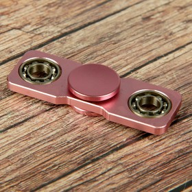 """Спиннер """"Конфета"""", розовый, с серебристыми кольцами, 6*6 см"""