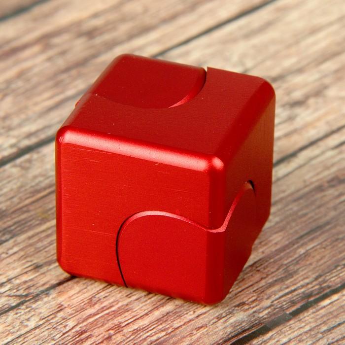 """Спиннер """"Куб"""", красный, 3,5*3,5*3,5 см"""