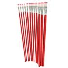 Набор кистей нейлон плоские 12 шт с длинными ручками в блистере