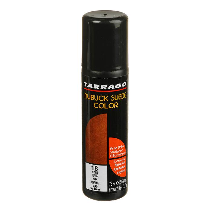 Краска для замши Tarrago Nubuk Color 018, цвет чёрный, флакон, 75 мл