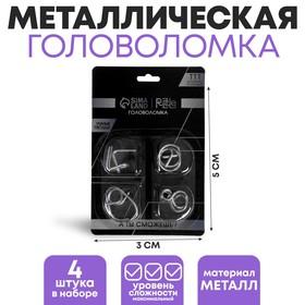 Набор металлических головоломок «Игры разума №5», 4 шт., 3 × 5 см