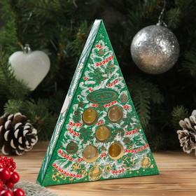 """Коллекция натуральных эфирных масел """"Ароматы зимних праздников"""", цвет зелёный"""