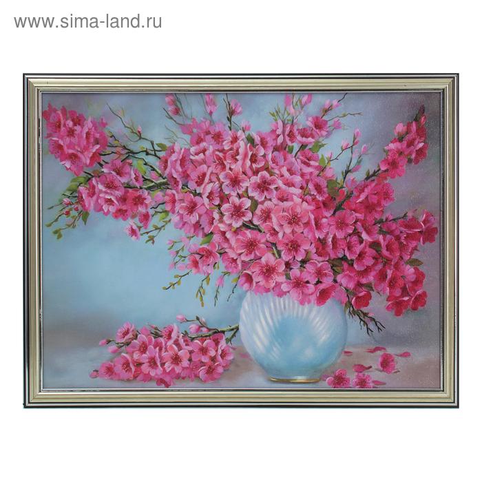 """Картина """"Большой розовый букет"""" 33*43 см"""