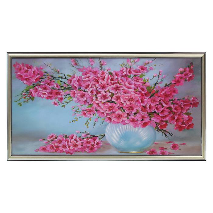 """Картина """"Большой розовый букет"""" 36*73 см"""