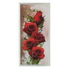 """Картина """"Ярко-красные розы"""" 36*73 см"""