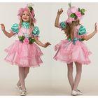 Карнавальный костюм «Дюймовочка», текстиль, платье, шапочка-колокольчик, р. 34, рост 134 см