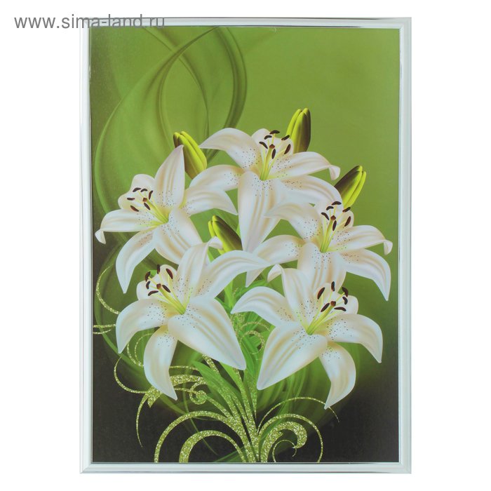 "Картина ""Белые лилии"" 53*73 см"