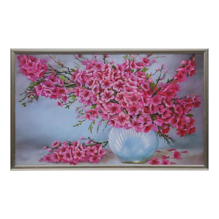 """Картина """"Огромный розовый букет"""" рама микс"""