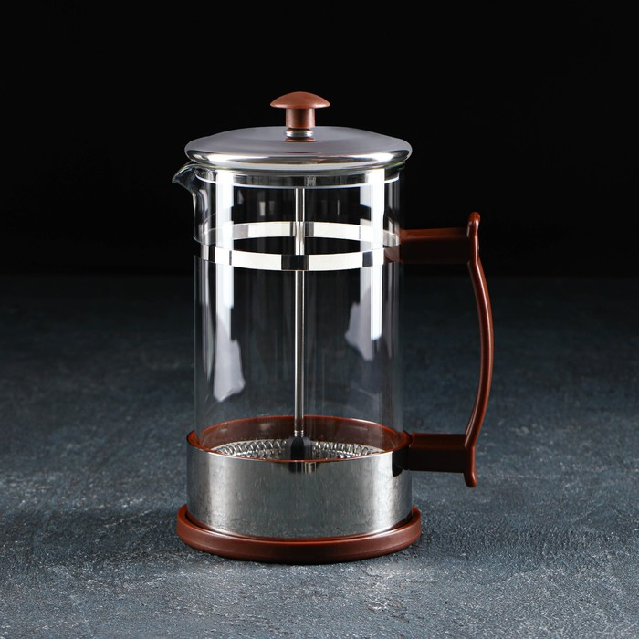 French press 600 ml RITS, color brown
